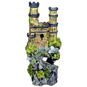 Exotic Environments® Medieval Castle With Metallic Blue Towers On Rocky Cliff – Tall