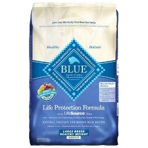 Blue Buffalo Large Breed Healthy Weight Chicken/Brown Rice Dog 30#