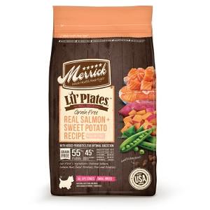 MerrickLil' Plates Grain Free Real Salmon + Sweet Potatoes Recipe for Dogs- 12lbs