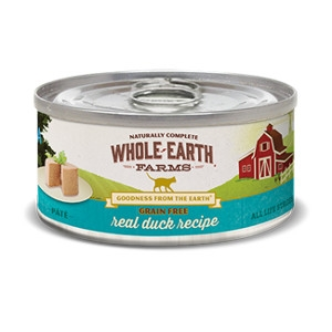 Whole Earth Farms Grain Free Real Duck Recipe for Cats- 5oz