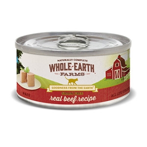 Whole Earth Farms Grain Free Real Beef Pate for Cats- 5oz
