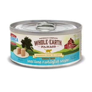 Whole Earth Farms Grain Free Real Tuna & Whitefish Pate Recipe for Cats- 5oz