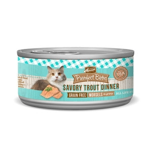 MerrickPurrfect Bistro Savory Trout Dinner Morsels in Gravy for Cats- 3oz