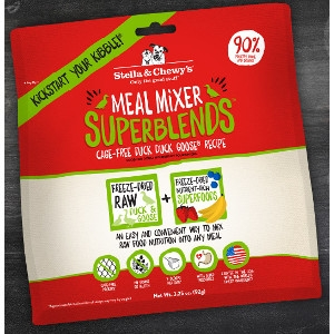 Cage-Free Duck Duck Goose Superblends Meal Mixers for Dogs 3.25 oz.