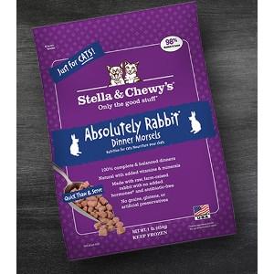 Aboslutely Rabbit Frozen Dinner Morsels for Cats- 1lb