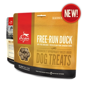 Orijen Freeze-Dried Free-Run Duck Treats for Dogs- 3.25oz