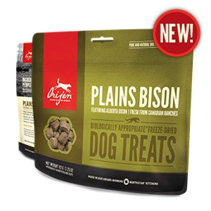 Orijen Freeze-Dried Plains Bison Treats for DOgs- 3.25oz