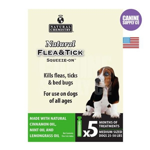 Natural Flea & Tick Squeeze-On™ for Medium Dogs, 25 to 50 lbs