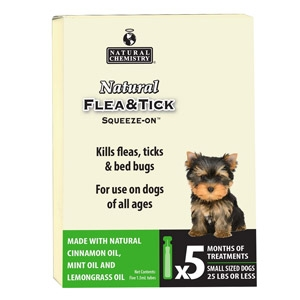 Natural Flea & Tick Squeeze-On™ for Small Dogs, 25 lbs or less