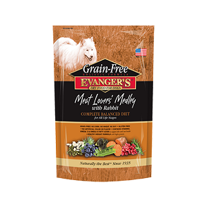 Evanger's Grain-Free Meat Lover's Medley with Rabbit Dry Dog Food