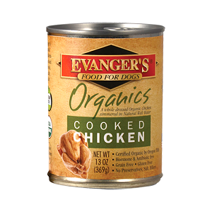 Evanger's 100% Organic Cooked Chicken for Dogs