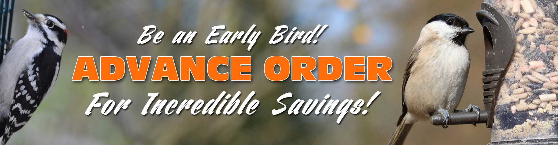 Advanced bird food sale banner
