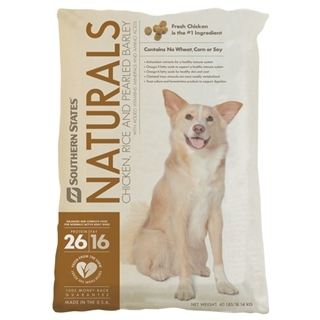 Southern States Naturals Chicken, Rice and Pearled Barley Dog Food 40 Pound