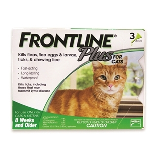 Frontline Plus for Cats 3-Dose