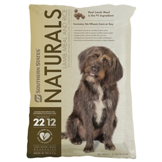 Southern States Naturals Lamb Meal and Rice Dog Food 40 Pound