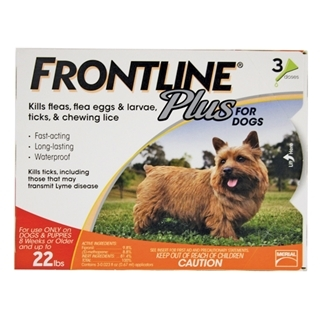 Frontline Plus for Dogs up to 22 Pound 3-Dose
