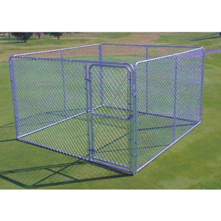 Stephens Pipe & Steel Silver Series Complete Kennel 10 Foot x 10 Foot x 6 Foot