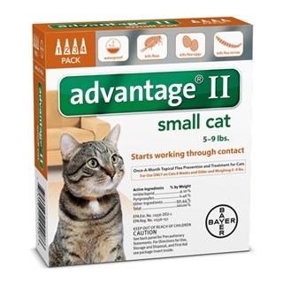 Bayer Advantage II Flea & Lice Treatment for Small Cats