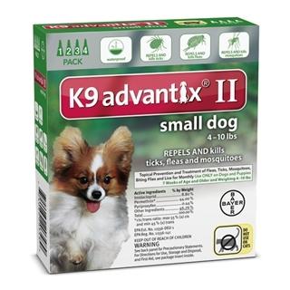 Bayer K9 Advantix II Flea Treatment for Small Dogs 4 Pack