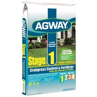 Agway Stage 1 Crabgrass Control & Fertilizer 26-0-4 15m