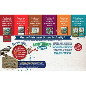 Hot Summer Savings on Wild Bird Seed!