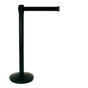 Stanchions - Black Retractable