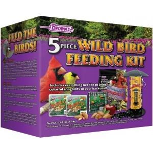 Brown's® 5 Piece Wild Bird Feeding Kit Now $15