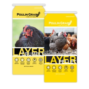 Poulin Grain Layer Crumble & Pellet 50lb $13.49/ea
