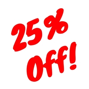 25% Off Concession Special!