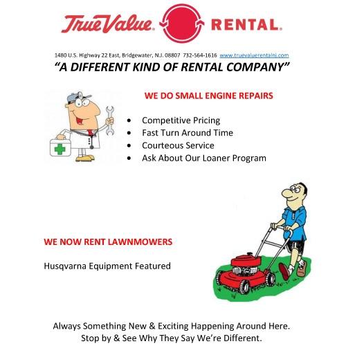 We also rent lawnmowers!