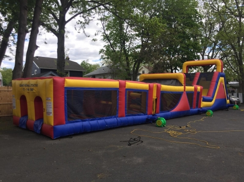 DOUBLE LANE SLIDE & OBSTACLE COURSE