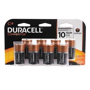 10.99 Duracell Alkaline Batteries C, D 8Pk, 9V 4Pk