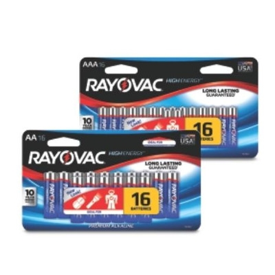 $4.99 for 16pk. AA or AAA Alkaline Batteries