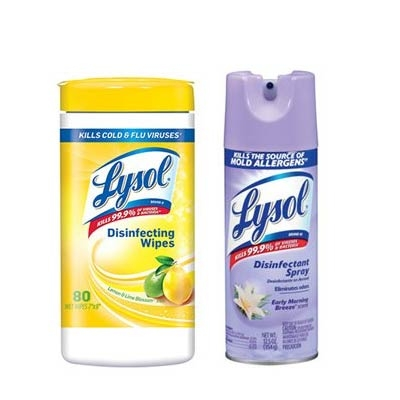 $4.99 for Lysol Disinfecting Spray or Wipes