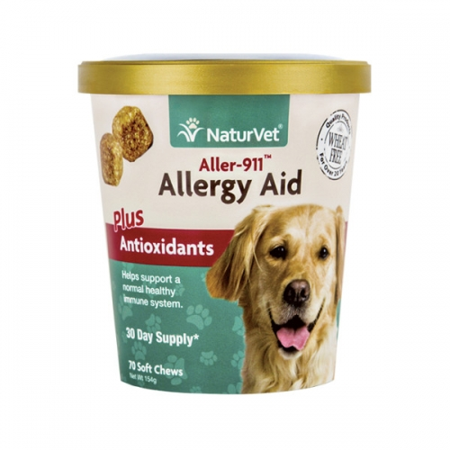 NaturVet®  Aller-911 Allergy Aid Soft Chews 70 Count