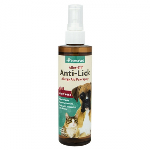 NaturVet®  Aller-911 Anti-Lick Paw Spray 8 Ounce