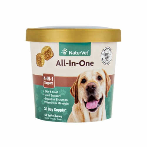 NaturVet® All-In-One Soft Chews 60 Count