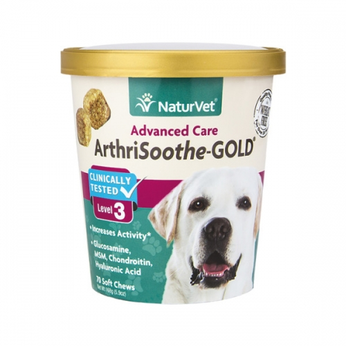 NaturVet®  AnthriSoothe-GOLD Advanced Care Soft Chews 180 Count
