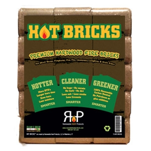 16-Pack Hot Bricks™ Compressed Wood Fuel Bricks