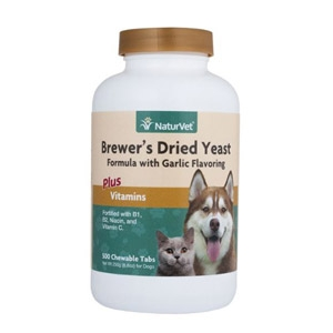 NaturVet®  Bewer's Dried Yeast with Garlic Chewable Tablets 500ct