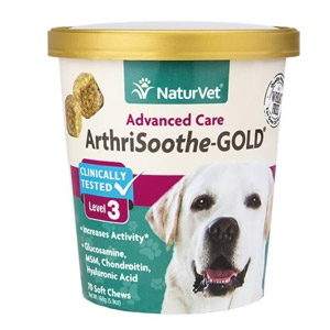NaturVet®  ArthriSoothe-GOLD Level 3 Soft Chew for Small Breeds 70ct