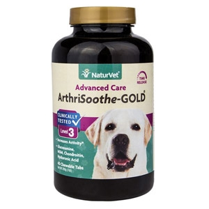 NaturVet®  ArthriSoothe-GOLD Advanced Care Chewable Tablets 90ct