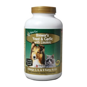 NaturVet®  Brewer's Dried Yeast & Garlic with Linoleic Tablets 500ct