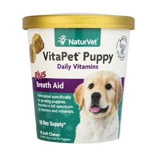 NaturVet® VitaPet™ Puppy Daily Vitamins Plus Breath Aid Soft Chews 70ct