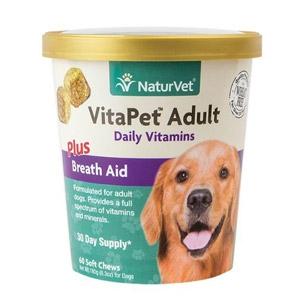 NaturVet® VitaPet™ Adult Daily Vitamins Plus Breath Aid Soft Chews 70ct