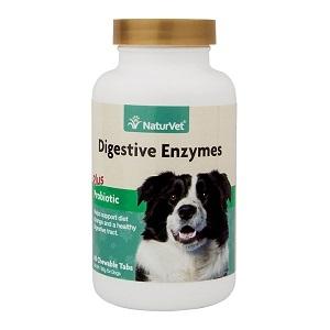 NaturVet Digestive Enzymes Plus Probiotic Chewable Tablets 90ct