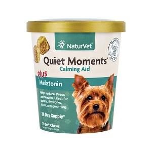 NaturVet Quiet Moments Dog Calming Aid Soft Chews 65ct