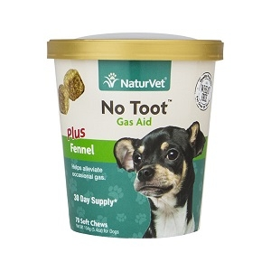 NaturVet No Toot™ Gas Aid Soft Chew Plus Fennel 70ct