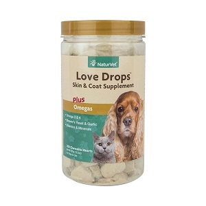 NaturVet Love Drops Skin & Coat Supplement Plus Omegas 200ct
