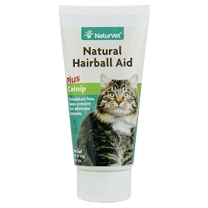 NaturVet Natural Hairball Aid Cat Gel Plus Catnip 3oz